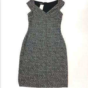 Dressbarn Collection Grey Speckled Dress Size 12